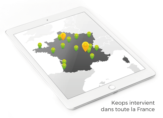 Carte de France projets Keops Architecture