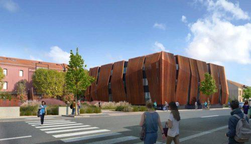 Centre universitaire Roanne Keops Facade Sud Ouest Ext 1