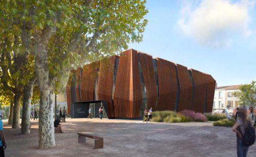 Centre universitaire Roanne Keops Facade Sud Ouest Ext2
