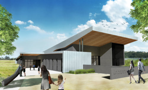 Salle de réception design Villerest - Keops architecture