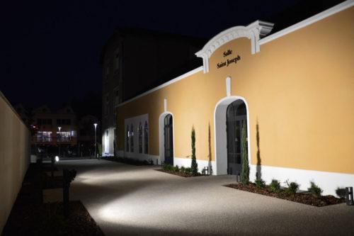 Façade extérieure de nuit Collège Saint Paul